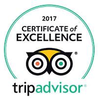 Rotonda Restaurant TripAdvisor Certificate of Excellence 2017