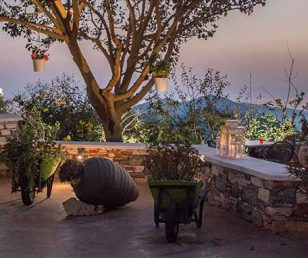 Restaurant in Naxos with romantic atmosphere